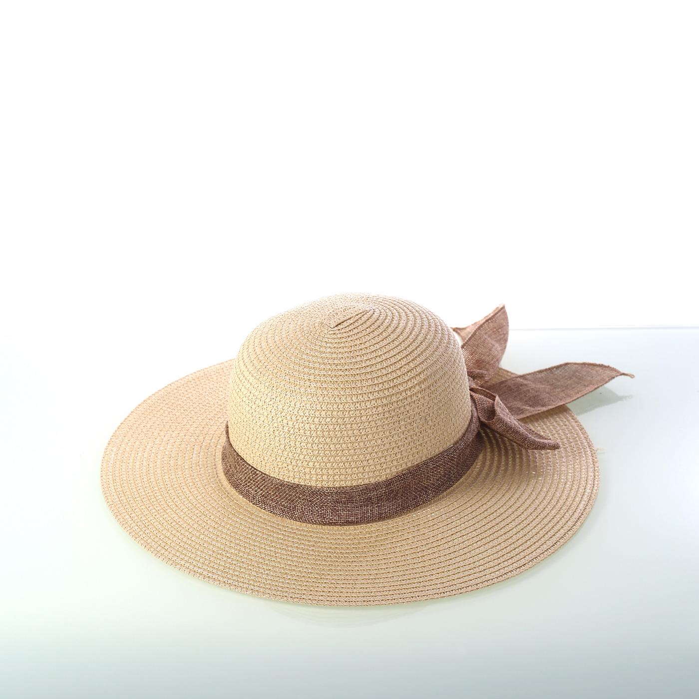 e5f0a7af0 Dámsky klobúk z rafie so šatkou Kbas KB019808