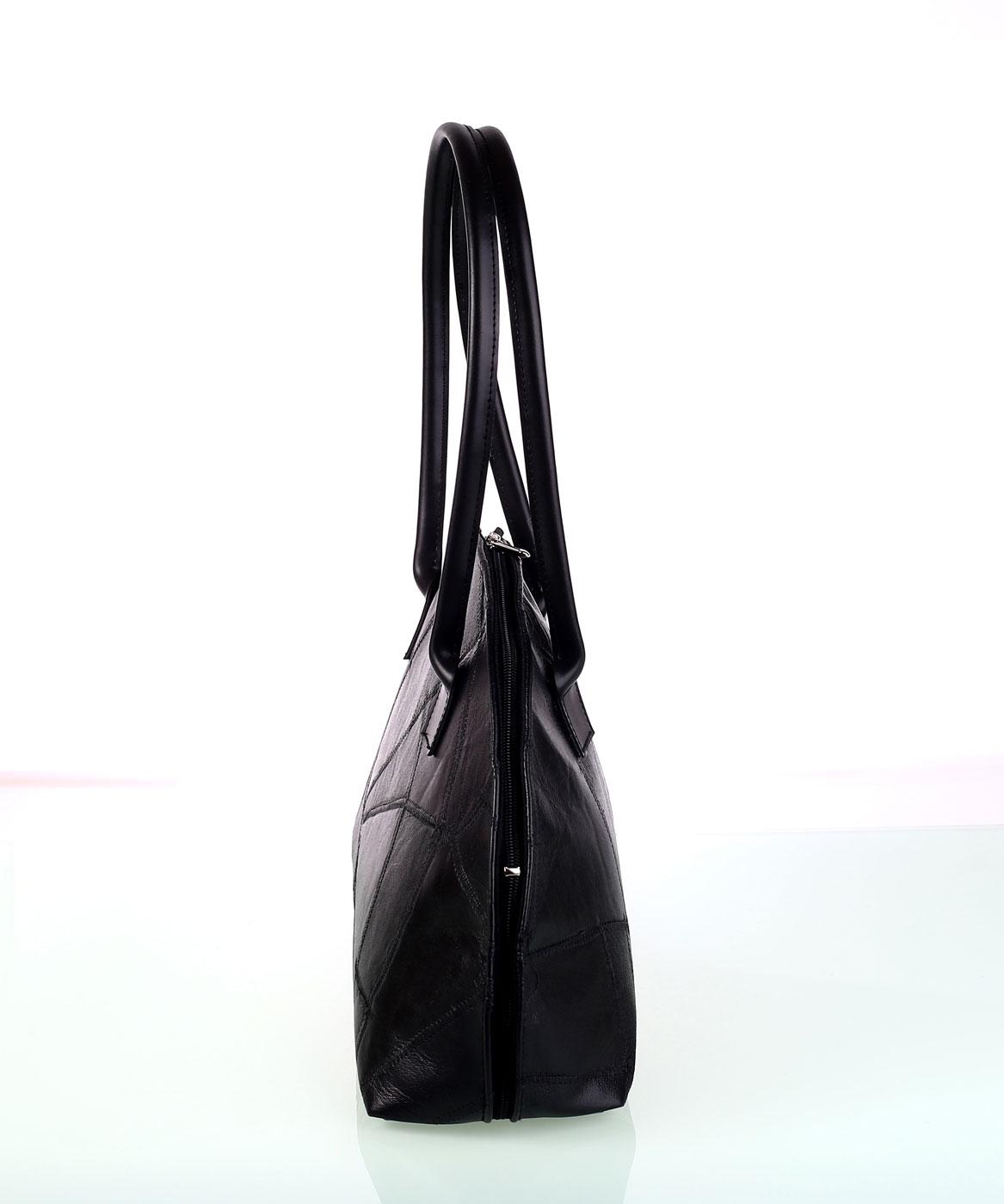 Dámska kožená kabelka s rúčkami Kbas čierna 494c1f870c2