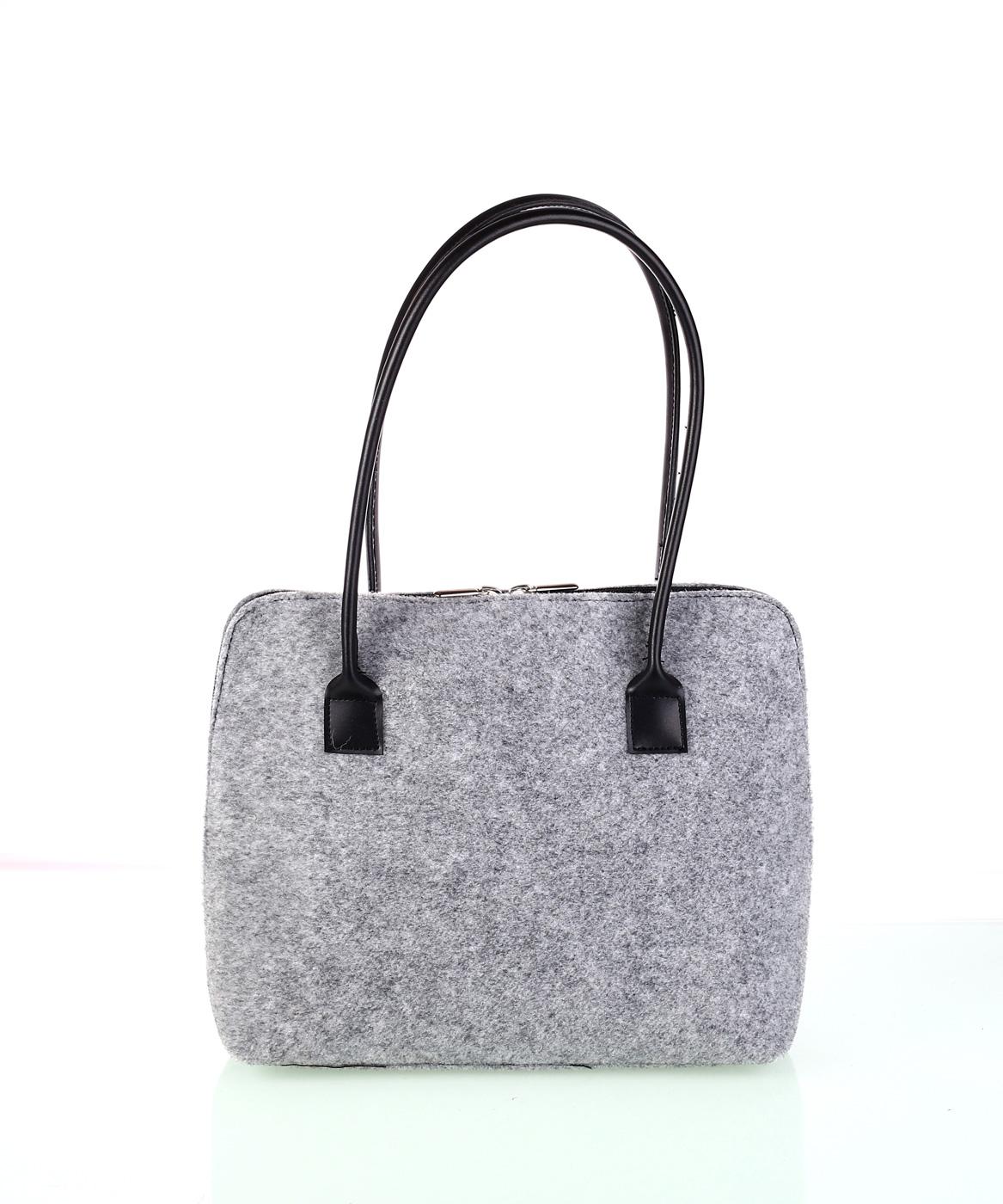 f1b7600506 Elegantní dámská kabelka z plsti Kbas šedá