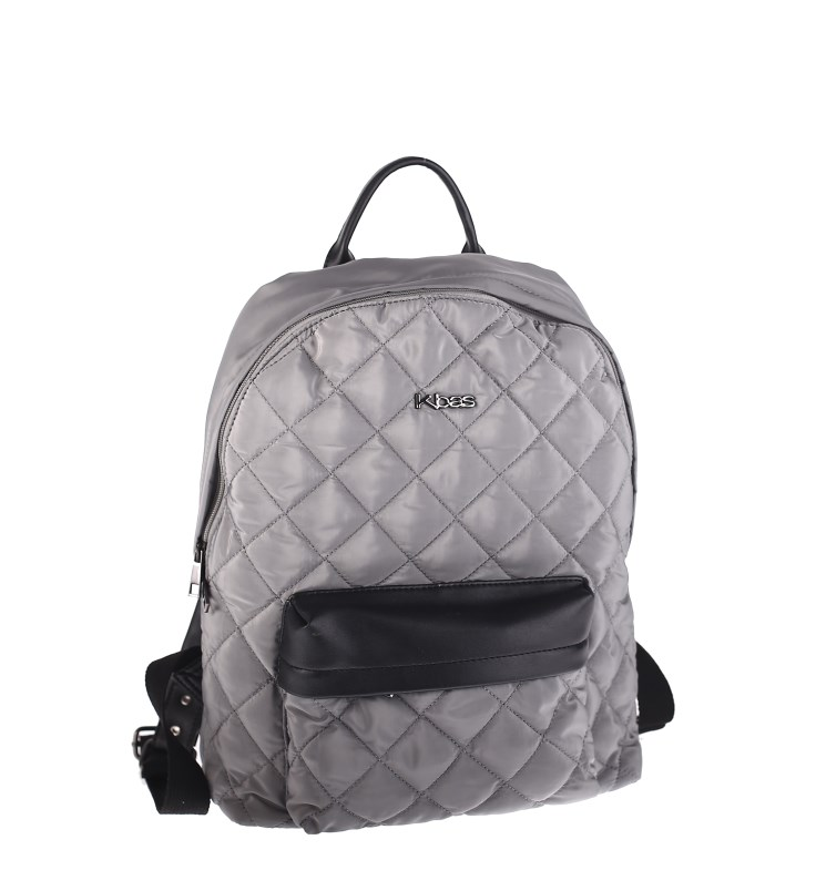 49417adf7c Dámsky batoh z nylonu Kbas prešívaný sivý