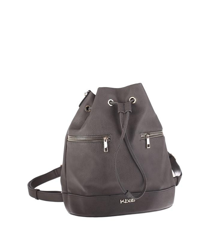 Elegantní batoh se zipy Kbas šedý 56e5360381