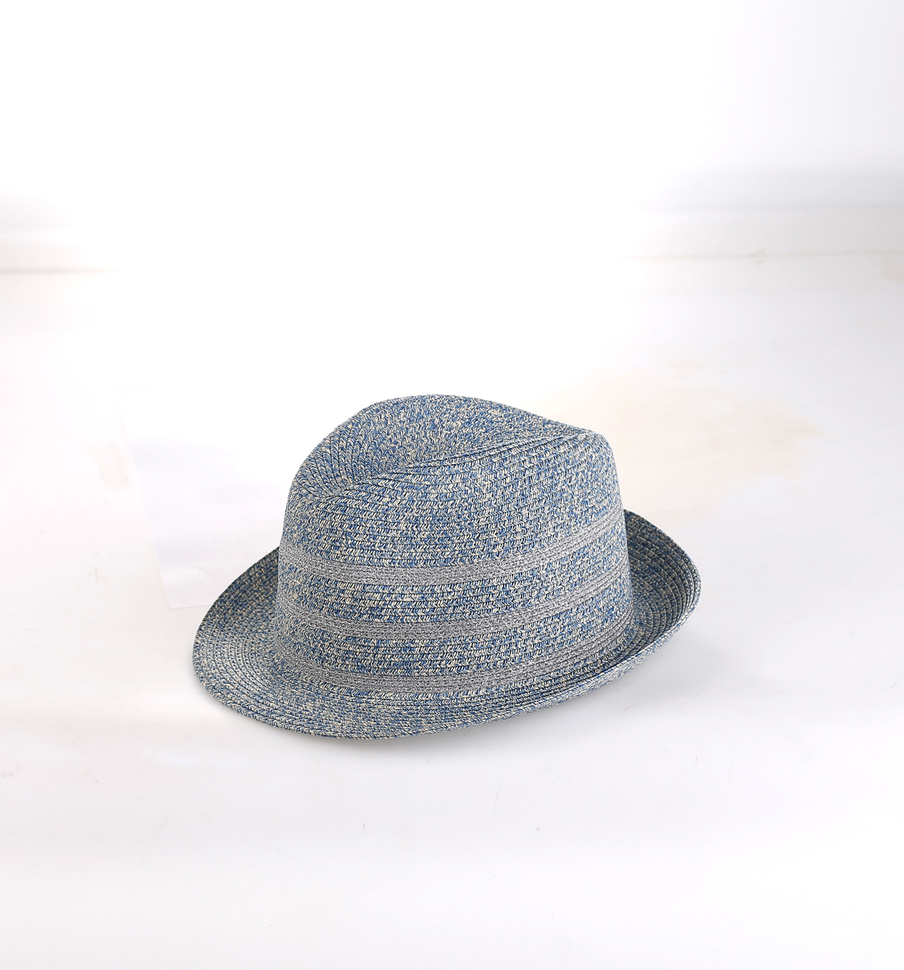 04754ee38 Dámsky slamený plážový klobúk Kbas modrý