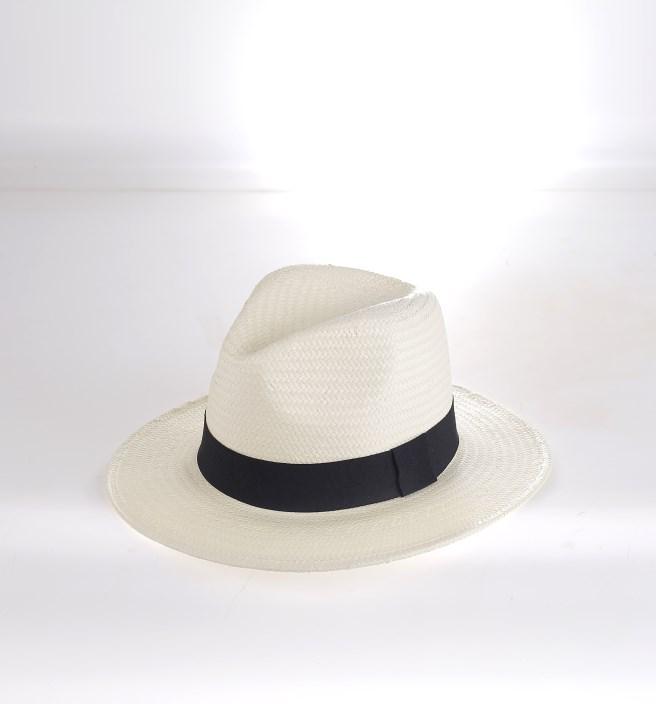 716a9d604 Plážový klobúk syntetická rafia Kbas krémový