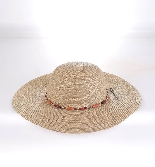 ad165aef8 Dámsky klobúk rafia korálky Kbas rôzne farby
