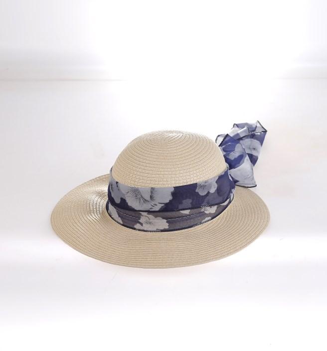 2d26fa0d0 Dámsky klobúk syntetická rafia Kbas bledý