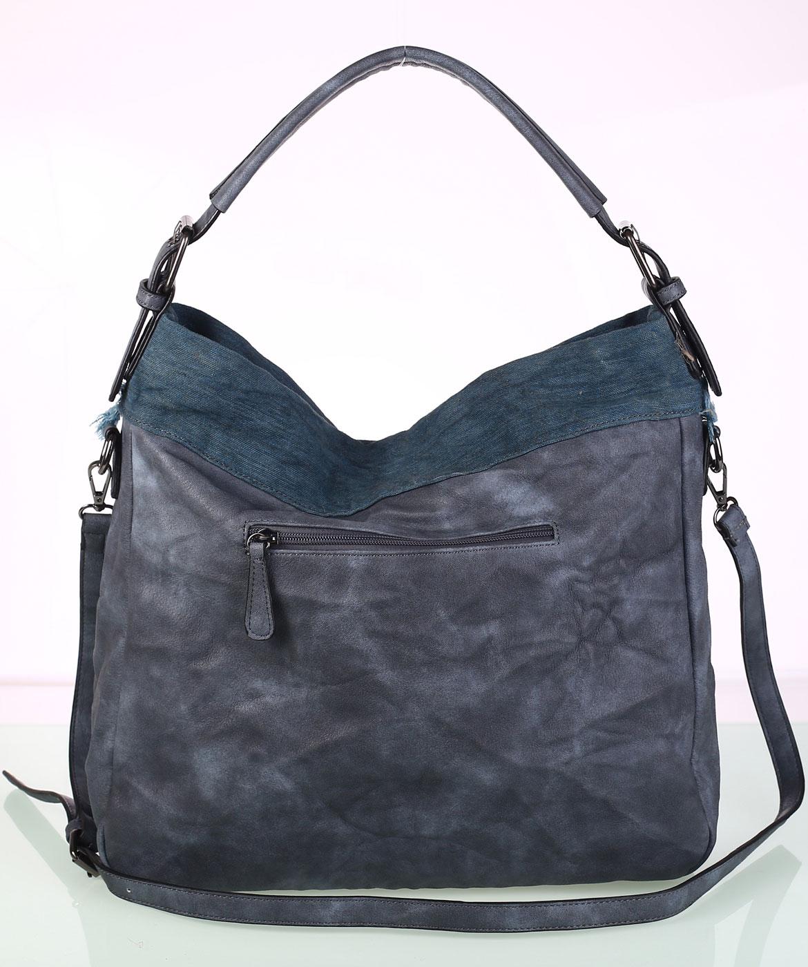 Dámska kabelka eko koža Kbas s ozdobným vybíjaním modrá 01fe50a58fe