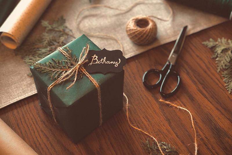 Balenie vianoce menovky