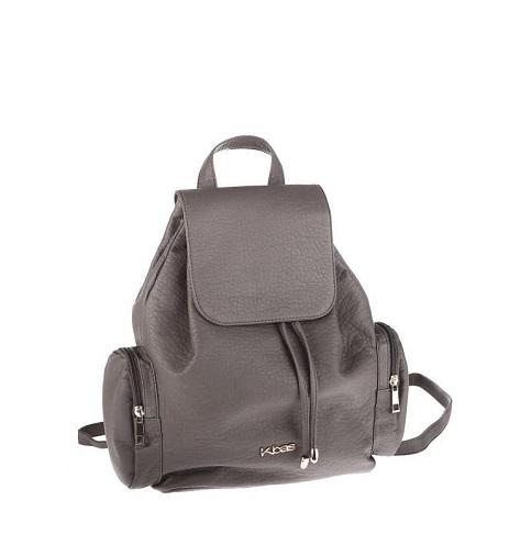 Batoh z nepremokavého materiálu Kbas s bočnými vreckami šedý