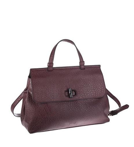 Bordová kabelka zo syntetickej kože Kbas