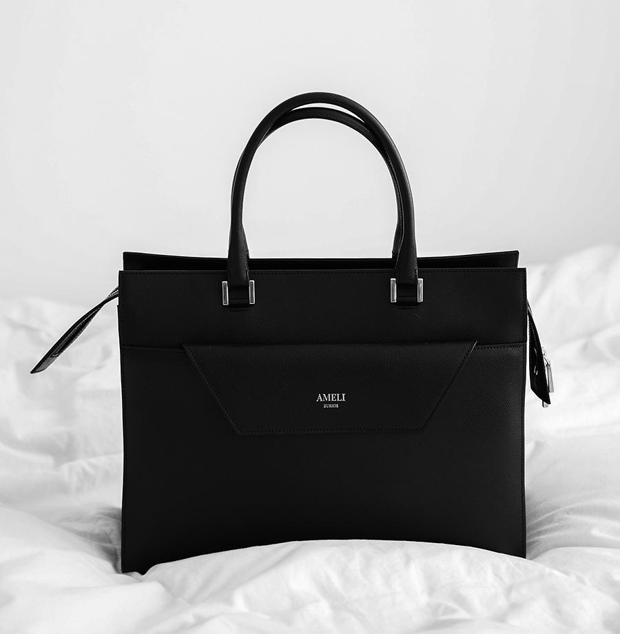 Bazele garderobei: geantă neagră vs. 5 ținute diferite