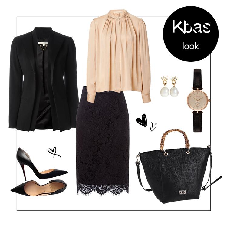 Cierna kabelka elegancia