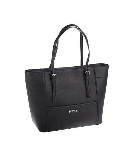 Čierna kabelka Kbas z nepremokavého materiálu