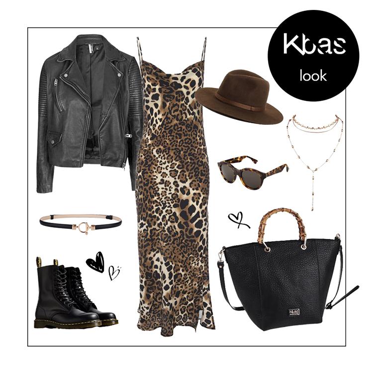Cierna kabelka leopard