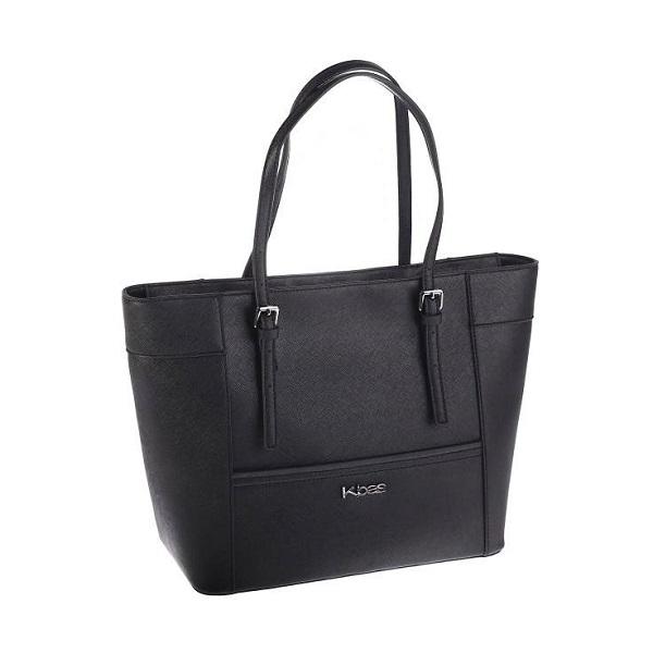 Elegantná čierna kabelka Kbas