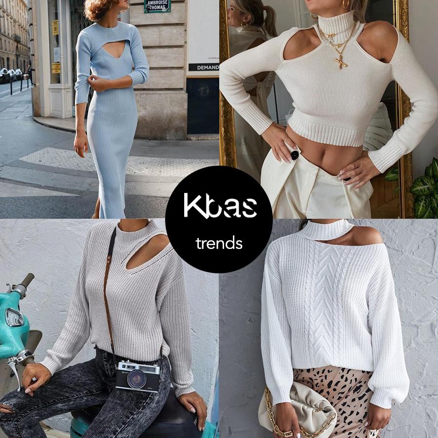 Jesen trendy cut out svetre