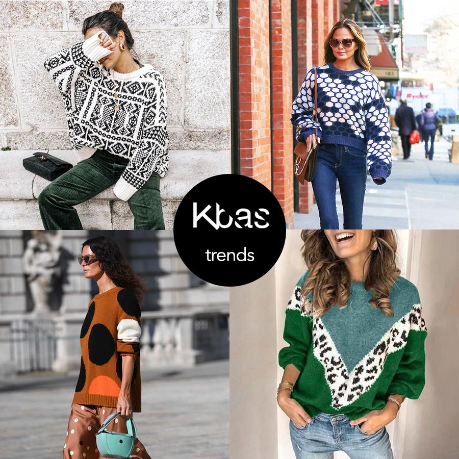 Jesen trendy vzor sveter