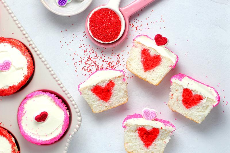 Valentin cupcakes