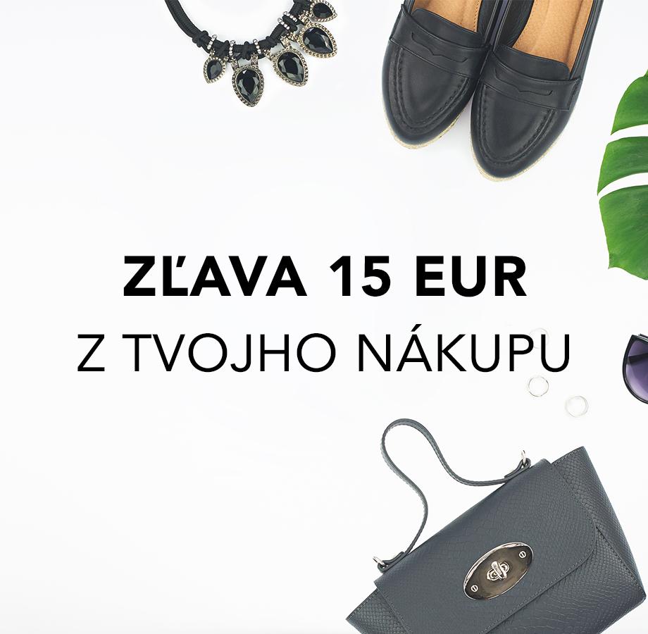 Využite zľavu 15 € na ľubovoľný nákup kabeliek Kbas!