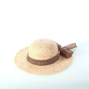 b15569af8 Dámsky slamený klobúk so šatkou Kbas KB019809