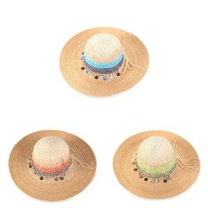 Pălărie de paie din rafie sintetică Kbas KB019912