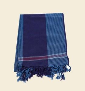 Plážové pareo z bavlny Kbas modré