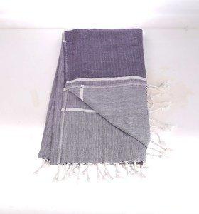 Plážové pareo a ručník z bavlny v jedném Kbas fialové