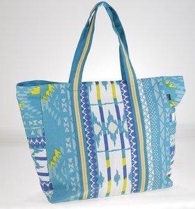 Plátěná taška Kbas s aztéckým vzorem tyrkysová
