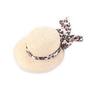 Dámsky klobúk z kukuričného šúpolia s mašľou Kbas KB043918