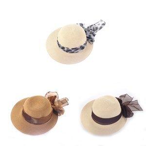 Női kalap szintetikus raffiából Kbas masnival KB064915