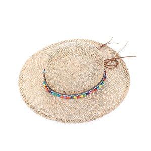 Női kalap szintetikus raffiából Kbas mintával KB064916