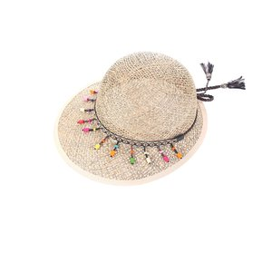 Női kalap szintetikus raffiából mintával Kbas KB064918
