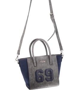 Elegantná kabelka z eko a syntetickej kože Kbas s číslom modrá