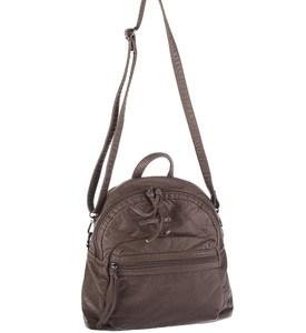 Dámský batoh z eko kůže Kbas s odepínatelným ramínkem hnědý