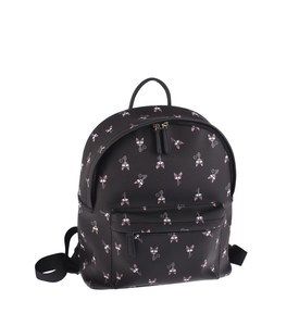 Dámsky batoh z eko kože Kbas so vzorom čierny