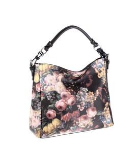 Elegantná kabelka z eko kože Kbas kvetinová hranatá
