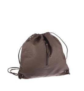 Dámsky batoh Kbas so špagetovými ramienkami z eko kože hnedý