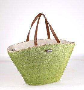 Coş din paie uscată Kbas cu material decorativ la exterior verde