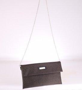 Listová kabelka cez rameno z PVC Kbas medená 085651CO
