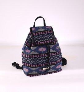 Dámský batoh Kbas s aztéckým vzorem modrý
