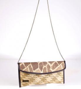 Slamená listová kabelka Kbas s potlačou žirafa 085714