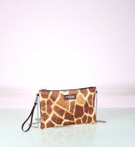 Psaníčko z eko kůže Kbas s potiskem žirafa 085715