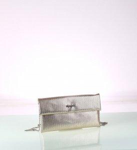 Metalická listová kabelka z eko kože Kbas zlatá 085729OR