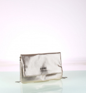 Elegantná listová kabelka z eko kože Kbas zlatá 085731OR