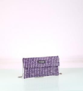 Listová kabelka zo syntetickej rafie Kbas fialová malá 085738L