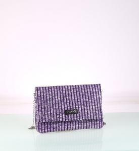 Listová kabelka zo syntetickej rafie Kbas fialová 085739L