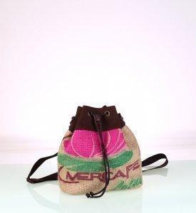 Női hátizsák zsákanyagból Kbas nyomattal újrahasznosított 085747