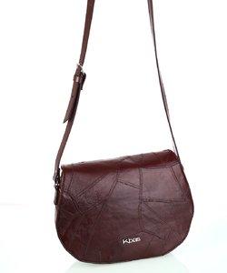 Dámska kožená kabelka cez rameno Kbas hnedá