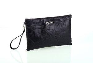 Dámska listová kožená kabelka Kbas čierna