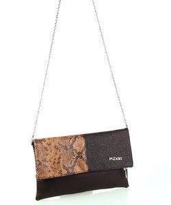 Geantă peste umăr pentru dame Kbas cu model patchwork și lănțișor 085770