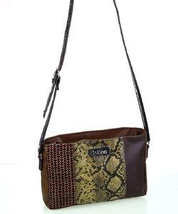 Dámska kabelka cez rameno Kbas so vzorom patchwork